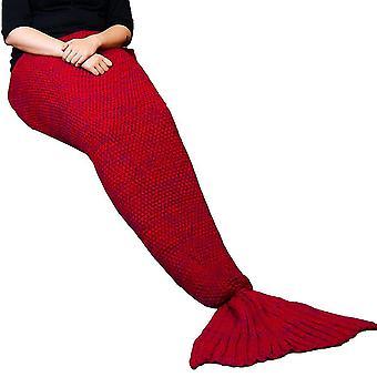 Blanket, Mermaid-red