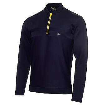 Calvin Klein Golf Mens Braid Half Zip Jumper Pullover Long Sleeve Training Top
