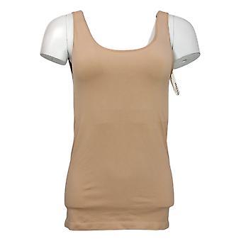 Rhonda Shear Plus Shaper Sem costura Tanque w/Prateleira Bra Bege Shapewear 586034