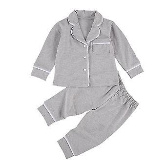 סטים של בגדי שינה של פיג'מות תינוקות מכותנה אחידה