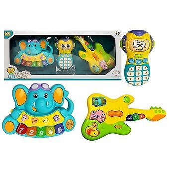 Kinder piano Olifant - Speelgoed telefoon en gitaar - Interactieve speelgoed set