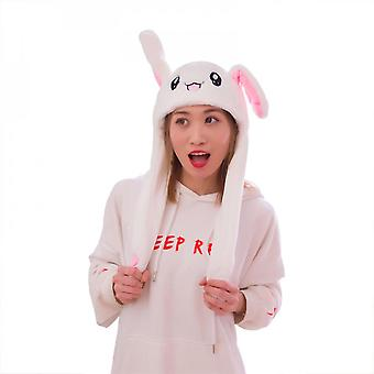 Rabbit Hat Ear Moving Jumping Hat Bunny Plush Hat Cap Cosplay Christmas Party