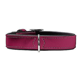 Pet leashes hunter softie 30 adjustable nubuck leather collar raspberry 18-24cm