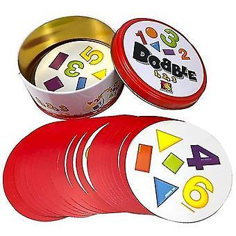 8+ Dobble spot to karetní hra se zvířaty, abecedami a čísly(F)