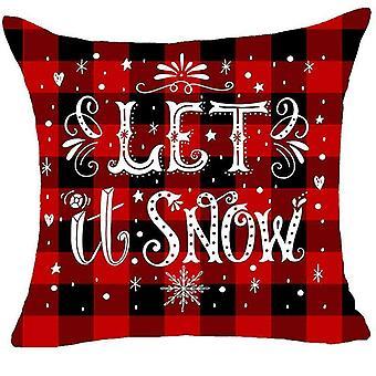 Fundas de almohada Sofá Funda de almohada de coche Fundas de almohada Fundas de almohada Shams Decoración de Navidad