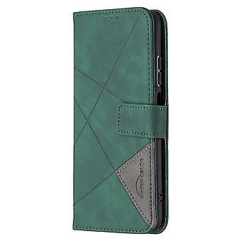 Dla Xiaomi Redmi Note 10 4g Case, Premium Pu Leather Folio Cover Magnetic Green