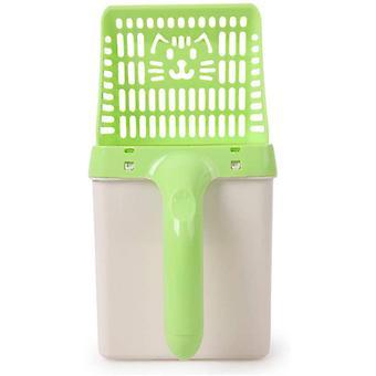 Pet Shovel Litter Shovel For Cat Pet Supplies Cat Litter Shovel 2 In 1 30 * 15 * 16 Cm Green