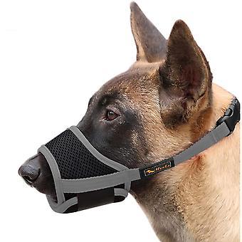 Pet Fornisce museruola per cani, con fibbia regolabile in rete traspirante, anti-abbaiare e masticare rosa (a)