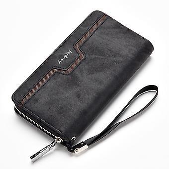Vintage Wallet Cardholder Clutch Long Zipper Casual Money Clip Purse