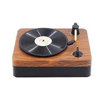Portable Music Retro Speaker Retro Gramophone Shaped Speaker Portable Wireless Bluetooth Sound Music Player For