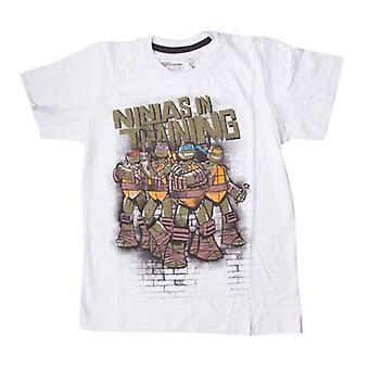 Teenage Mutant Ninja Turtles TMNT Kids Ninjas In opleiding T-Shirt, 164/170, wit (TSY00058TNT164)