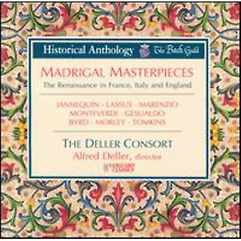 Deller Consort - Madrigal Masterpieces [CD] USA import