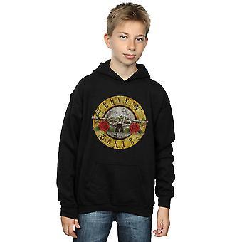 Guns N Roses Boys Vintage Bullet Logo Hoodie