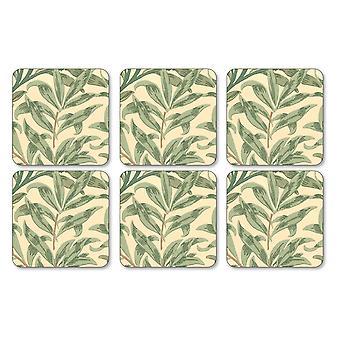 Pimpernel Willow takken groene onderzetters, Set van 6