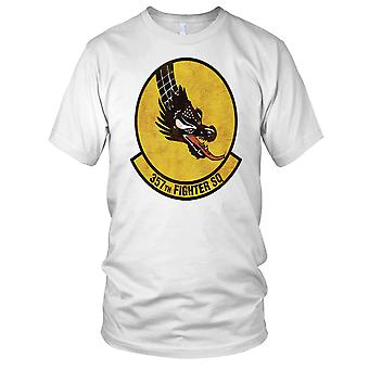 USAF Air Force 357th Fighter Squadron Grunge efekt dzieci T Shirt