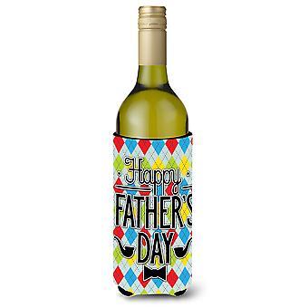 Happy Father's Day Argyle wijnfles Beverge isolator Hugger