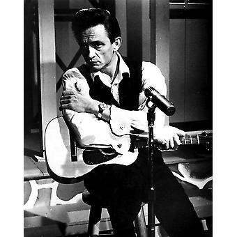 Johnny Cash aiheutti kitara valokuvatulostus
