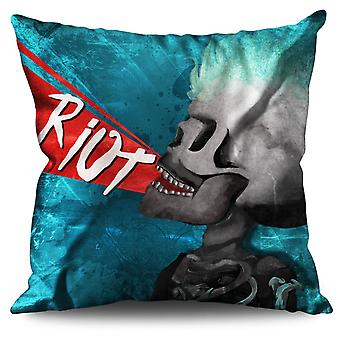 Art Metal Rock Linen Cushion 30cm x 30cm | Wellcoda