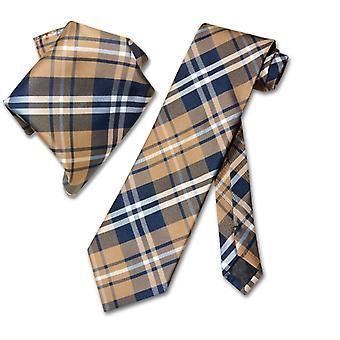 Cravatta in tartan Vesuvio Napoli & fazzoletto corrispondente Tie Set