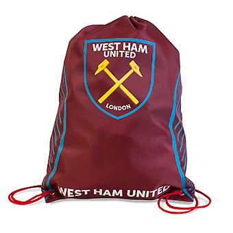West Ham United FC Official Crest Design Swerve Gym Bag