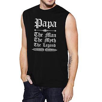 Vintage Papa gótico para hombre negro músculo moda Cool camiseta mejor regalo