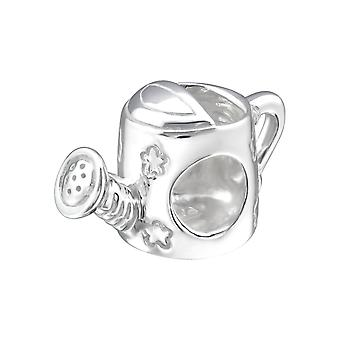 Watering Can - 925 Sterling Silver Plain Beads - W22695x