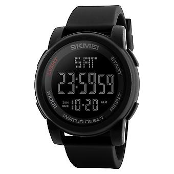 SKMEI Mens Large Display Digital Watch Resin Strap Stopwatch Alarm DG1257