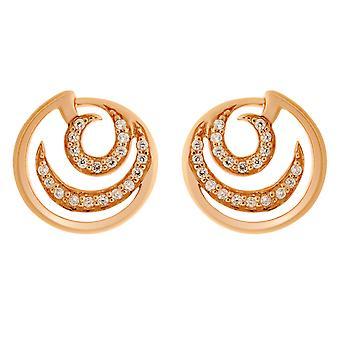 Orphelia Silver 925 Round Rose Earring   ZO-7084/1