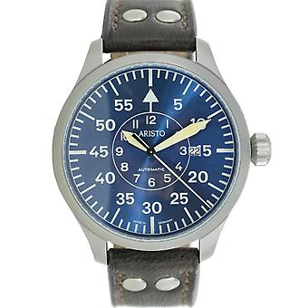 Aristo men's watch automatic Bracelet Watch Blue 47 observers 3 H 158 leather