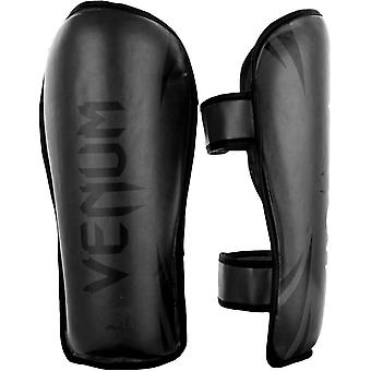 Venum Challenger Hook and Loop Shin Guards - Black/Black