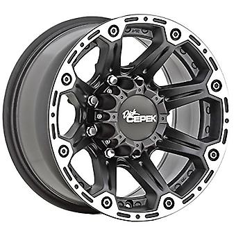 Dick Cepek Torque Flat Black Wheel with Machined Accents (17x8.5