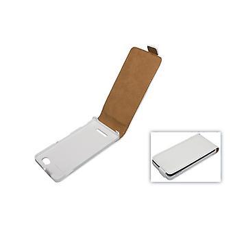 Tapauksessa valkoinen Kännykkäkotelo (flip slim) Sony Xperia m