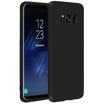 Forcell case for Samsung Galaxy S8, soft touch cover, silicone TPU case - Black