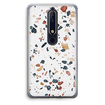 Nokia 6 (2018) boîtier Transparent (doux) - Terrazzo N ° 4