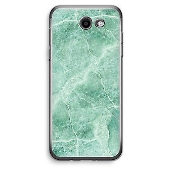 Samsung Galaxy J3 Prime (2017) przezroczysty (Soft) - zielony marmur