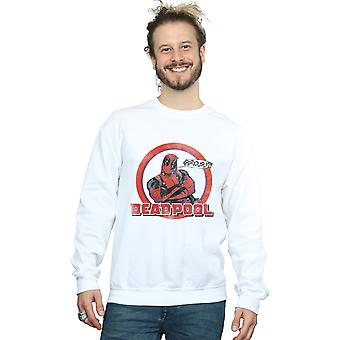 Herren Deadpool ernsthaft staunen Speech Bubble Sweatshirt