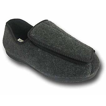 Koelers Mens CosyComfort verstelbare orthopedische Slippers