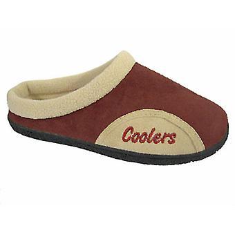 Coolers Mens Microsuede Coral Fleece Lined Mule Slippers 11/12 UK Burgundy