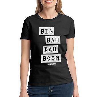 Le cinquième élément gros Bah Dah Boom T-shirt noir des femmes