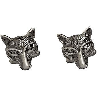 Simon Carter Pursuits Fox Cufflinks - Silver