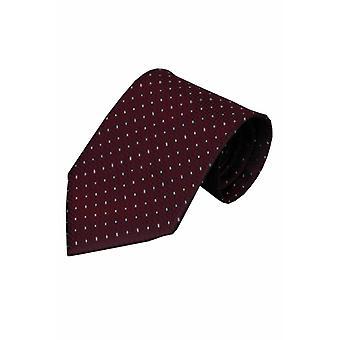 Rode zijden stropdas Trasimeno 01