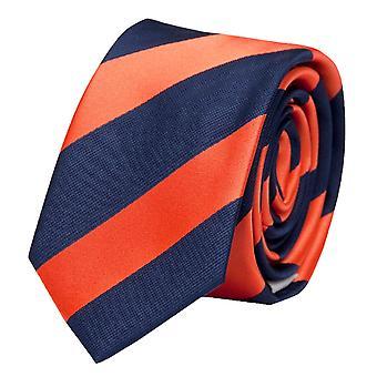 Binda, binda, knyta, Binder, 8cm, blå orange randig Fabio Farini,