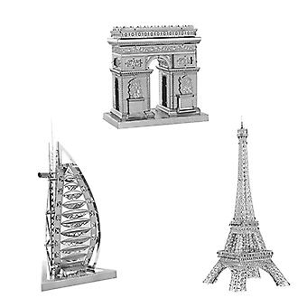 3D Model construction kit in Metal (architecture, Silver)