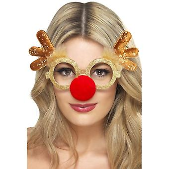 Reindeer Comedy Specs, One Size