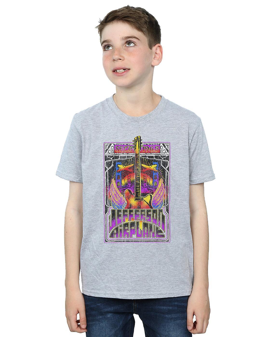 Jefferson Airplane Boys Winged Guitar T-Shirt