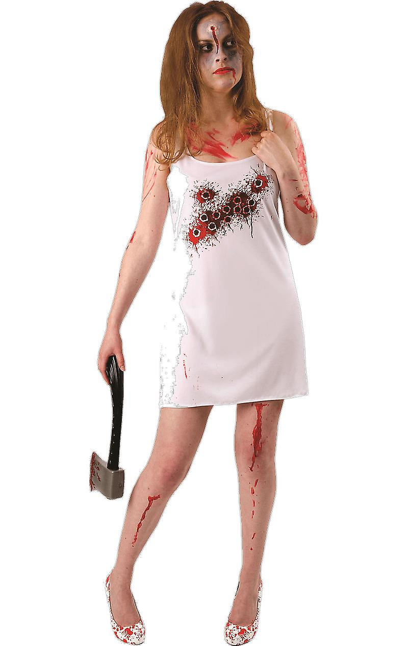 Orion Costumes Womens Bullet Hole Halloween Horror Fancy Dress Costume