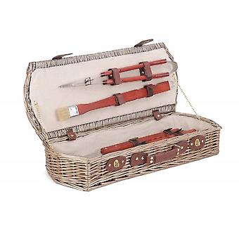Wicker Barbeque Tool Basket Set