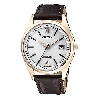 Citizen Solar Analog Man with a leather strap AS2053-11A