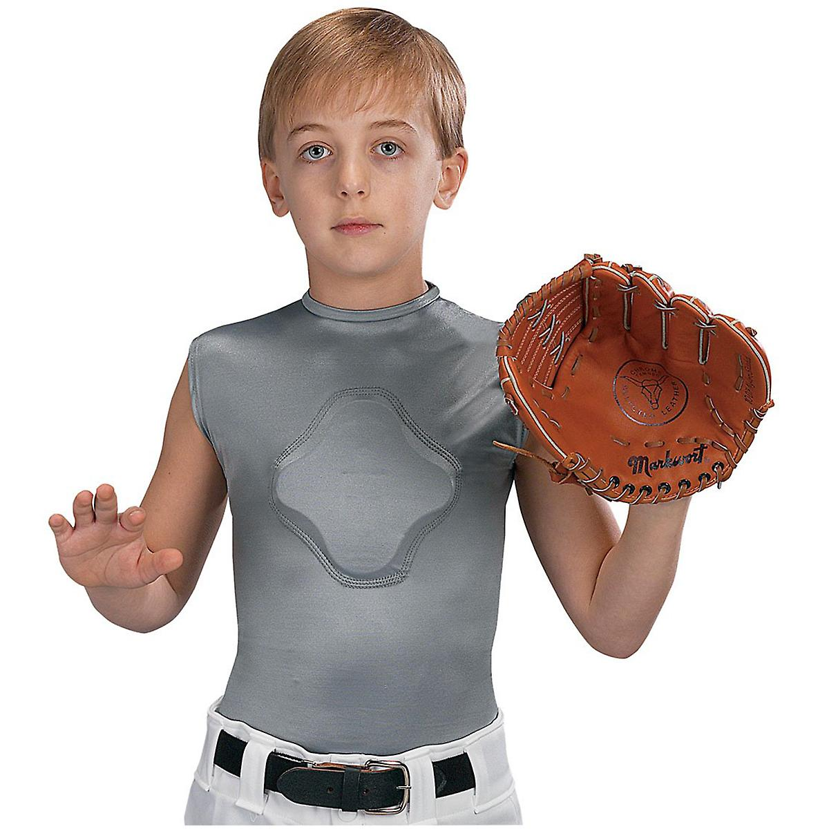 Markwort ungdom hjertet-Gard beskyttende komprimering kroppen skjorten - grå