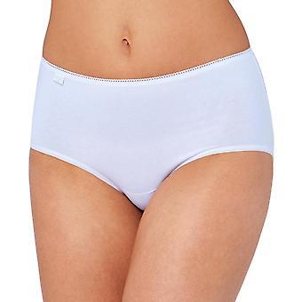 Sloggi 3 Pack 24/7 puuvilla Midi alushousut - valkoinen
